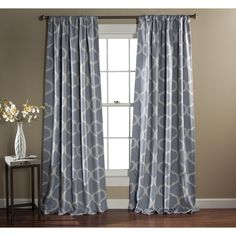 lush decor geometric blackout curtain panel pair overstock shopping great deals on lush