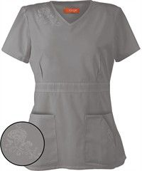 I can imagine my salon name embroidered in green. Standard Scrubs Hermosa  Women's Top