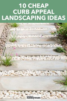 Looking to boost your curb appeal? These ideas for your landscaping and front porch are simple, affordable, and will give your home a whole new look! Landscaping With Rocks, Modern Landscaping, Outdoor Landscaping, Front Yard Landscaping, Curb Appeal Landscaping, Cheap Landscaping Ideas For Front Yard, Front Driveway Ideas, Garden Ideas Driveway, Modern Front Yard