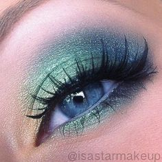 Follow mimimarsh4 on PinterestGreens Eye Shadow Makeup Peacock Makeup Look