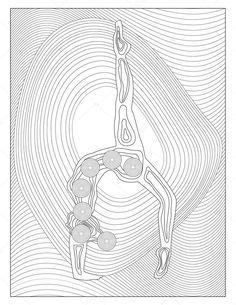 Yoga çakra boyama sayfası - Stok İmaj