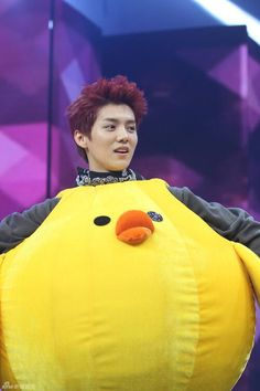 Can't wait until EXO's episode of Happy Camp comes out on July 6!!! Luhan looks adorable in the chicken outfit lol :P