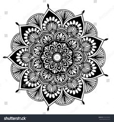coloring pages - Mandalas Coloring Book Decorative Round Ornaments Stock Vector (Royalty Free) 764820337 Mandala Doodle, Mandala Art Lesson, Mandala Artwork, Mandala Dots, Mandala Drawing, Mandala Pattern, Mandala Design, Croquis Mandala, Image Mandala