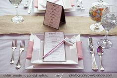 Cute mock table set up  Menu card and whimsical straw from our friend @Allison Barnhill