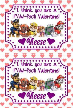 Paw Patrol Valentines by TheWhiteLilly on Etsy https://www.etsy.com/listing/265705209/paw-patrol-valentines
