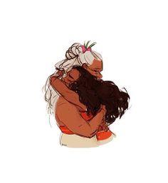 El amor que hay entre moana y su abuela Tala era grande