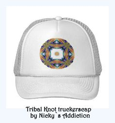 Tribal Knot Design on truckerscap, Design by Nicky`s Addiction