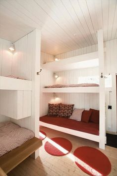 The bedding and accessories make it seem more contemporary. | Bunk Beds