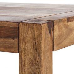 Table à manger Authentico, bois massif de palissandre | home24.fr Wooden Tables, Design, Home Decor, Carpentry, Woodworking, Mesas, Solid Wood, Furniture, Kitchens