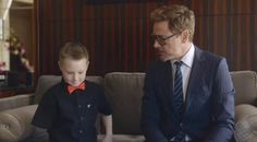 Watch Robert Downey Jr give bionic 'Iron Man' arm to a seven-year-old superhero fan