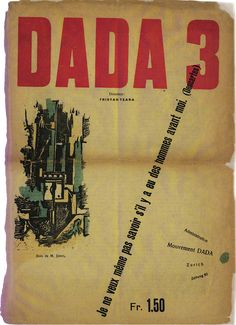 Dada Magazine, December 1918  Artist: M. Janco   M. Janco did cover art for a few of the editions of this seminal magazine of Dadaism.
