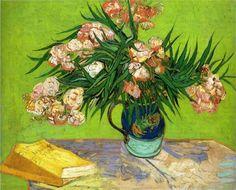 Oleanders and Books ~ Vincent Van Gogh
