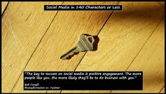 The key to success on #SocialMedia is positive engagement...
