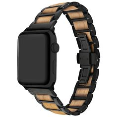The Epic Fusion watch band beautifully blends stainless steel and natural wood. Finally, here is the eye-catching and unique watch band that lives up to the refined sophistication of the Apple Watch! Metal Watch Bands, Apple Watch Bands, Cool Watches, Watches For Men, Sport Watches, Popular Watches, Beautiful Watches, Elegant Watches, Stylish Watches