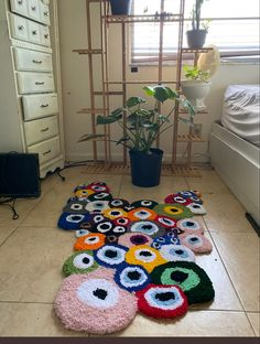 Funky Rugs, Cool Rugs, Indie Room Decor, Aesthetic Room Decor, My New Room, My Room, Room Ideas Bedroom, Bedroom Decor, Room Goals