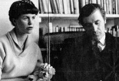 Sylvia Plath and Ted Hughes. Ted Hughes Sylvia Plath, Anne Sexton, Dorothy Parker, Classic Literature, American Literature, Fiction, Writers And Poets, American Poets, Book Writer
