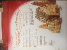 Pepperidge Farm gingerbread house