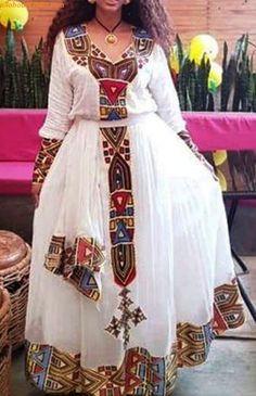 100 Amazing Modern & Traditional Dress (Habesha Kemis/Kemise) of Ethiopia in 2019 — allaboutETHIO Ethiopian Traditional Dress, African Traditional Dresses, Traditional Wedding Dresses, Traditional Outfits, Modern Traditional, Ethiopian Wedding Dress, Ethiopian Dress, African Wedding Attire, Pakistani Wedding Outfits