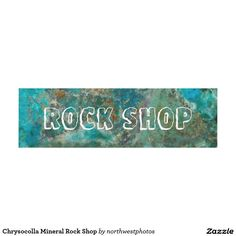 Chrysocolla Mineral Rock Shop Panel Wall Art