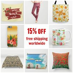 Today only! Ends 3/7 #sale #deals 15% off everything #homedecor #roomdecor #pillow #duvetcover #showercurtain #walltapestry + #freeshipping #worldwide Check more at society6.com/julianarw