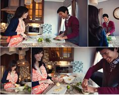 Cooking engagement pic ideas