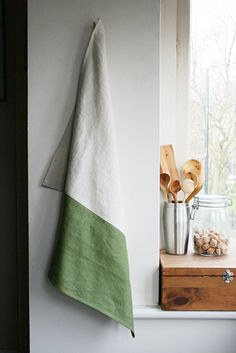 Handmade White Smoke And Ruby Red Kitchen Towel Tea Large Linen Dishcloth Linens Combined Of Two Pinterest