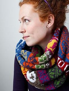 Ravelry: My Favourite Things Infinity Scarf pattern by Jill McGee free links to videos on Ravelry page and worked in worsted suggesting use of at least 10 colours, great way to use up scrap yarn and best of all, its free! Knitting Charts, Knitting Patterns Free, Knit Patterns, Free Knitting, Free Pattern, Double Knitting, Stitch Patterns, Knit Cowl, Knitted Shawls