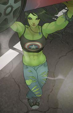 She Hulk II by TorqueArtStudio.deviantart.com on @deviantART