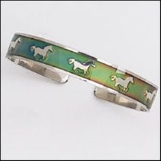 Horse Mood Bangle, Changes To The Colour Of Your Mood, A Perfect Gift For Horse Lovers.