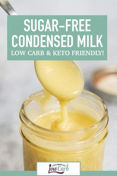 You're going to love this creamy, sugar-free condensed milk recipe that is Keto, gluten-free, and so easy to make! Add it to just about everything for a tasty, low carb boost! Sugar Free Desserts, Sugar Free Recipes, Low Carb Desserts, Low Carb Recipes, Diet Recipes, Dessert Recipes, Pudding Desserts, Healthy Recipes, Healthy Fats