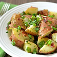 Grilled Potato Salad - You won't heat up the kitchen making this 5 star recipe. #MyAllrecipes #AllrecipesFaceless #AllrecipesAllstars #PotatoSalad