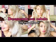 Como desamarelar  o cabelo com tinta Alfaparf 12.11