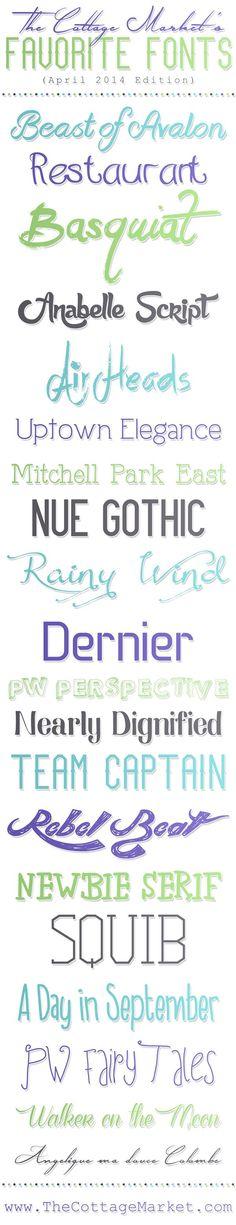 Fabulous Free Fonts {April 2014} - The Cottage Market