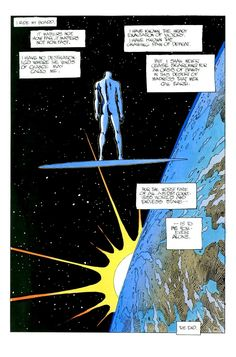 "Jean Giraud (Moebius), ""Silver Surfer: Parable)"", scripted by Stan Lee; published through Marvel's Epic Comics imprint in 1988 and 1989."