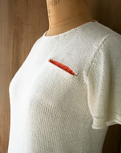 Knit T-Shirt by Purl Soho FREE PATTERN on Ravelry - love the little pop of colour on the inside of the breast pocket ;-)