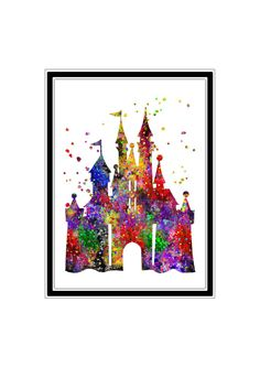 Cinderella castle inspired Princess Castle by RosalisArt on Etsy