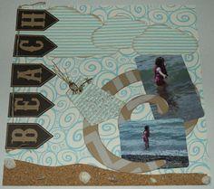 Beach Layout - Scrapbook.com