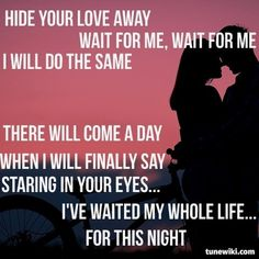 Waiting for your love song