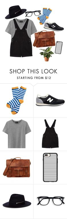 """back"" by marielaznickova on Polyvore featuring Barbour, New Balance, Monki, Casetify and Larose"
