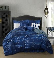 Chezmoi Collection Japanese Blue Jacquard Oversized Comforter Set king for sale online Red Comforter, Queen Bedding Sets, Queen Comforter Sets, Crib Bedding, Bohemian Bedding Sets, Flat Bed, Luxury Bedding, Modern Bedding, Comforters