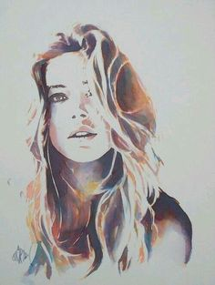 Watercolour portrait