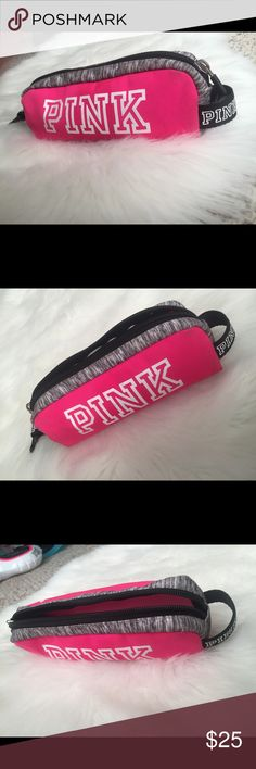 "✨PINK Victoria's Secret Makeup/pencil bag ✨Thank you for shopping in my closet✨  ✅NWOT PINK Victoria's Secret Makeup/pencil bag  ‼️PRICES ARE FIRM! My items are already listed low as it is. So please do not ask ""lowest?"". Remember, posh takes a fee😩  🌟LOTS OF NWT VS PINK items listed on my page! ⛔️PLEASE NOTE: NWOT= Brand new without tags  ❌NO TRADES ❌NO MODELING ✋🏻LOWBALLS WILL BE IGNORED ✋🏻RUDE COMMENTS= BLOCKED   🤗WILL HOLD IF NEEDED ✔️PET FREE ✔️SMOKE FREE ✔️GREAT CONDITION PINK…"