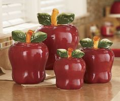 Canisters, 4-Piece Apple Set from Ginny's ®