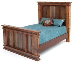 Barnwood Bed - Elegant Rustic Design #2 - Item #BR04041 - Available in Queen & King - Made From Salvaged Barnwood
