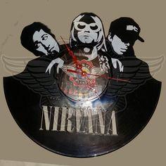Orologio da parete in vinile NIRVANA di VinylPlanet su Etsy