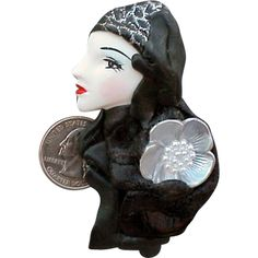 Vintage Flapper Girl Brooch The Sale is On! This item is now 50% off! But Hurry! Sale ends Augst 3rd  at 8:00 am PST.