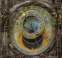 The century astronomical clock on the Old Town City Hall in Prague