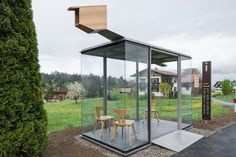 Zwing BUS STOP by Smiljan Radic, Chile