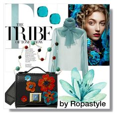"""""""Teal Tribe"""" by ropastyle on Polyvore featuring Hensely and Andrew Gn"""