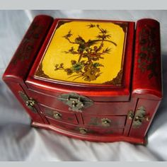 Handmade Antique Vintage Jewelry Collectibles Keepsake Storage Boxes e - Liquiwork